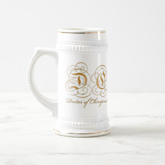 Gold Parchment Letter Doctor of Chiropractic Stein