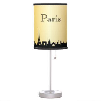 Gold Paris Skyline Silhouette Lamp