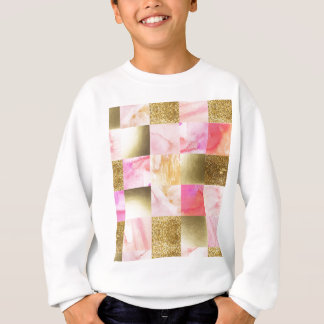 gold,pastels,water colors,squares,collage,modern, sweatshirt