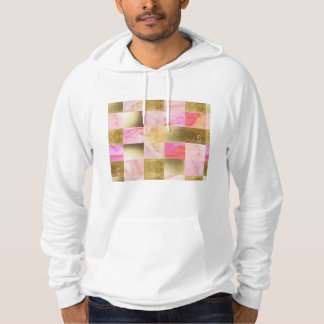 gold,pastels,water colors,squares,collage,modern,t hoodie