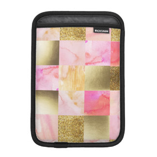 gold,pastels,water colors,squares,collage,modern,t iPad mini sleeve