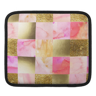 gold,pastels,water colors,squares,collage,modern,t iPad sleeve