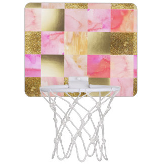 gold,pastels,water colors,squares,collage,modern,t mini basketball hoop