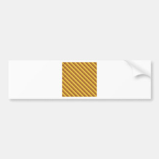 Gold Pattern Bumper Sticker
