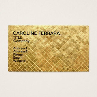 Gold pattern business card