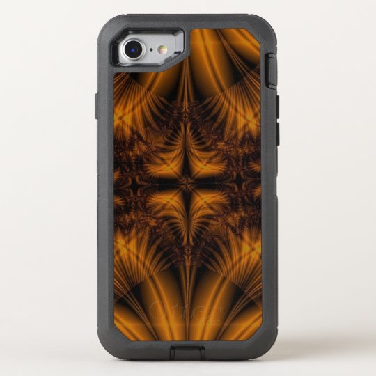 Gold Pattern OtterBox Defender iPhone 8/7 Case