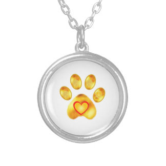 Gold Paw Silver Plated Necklace