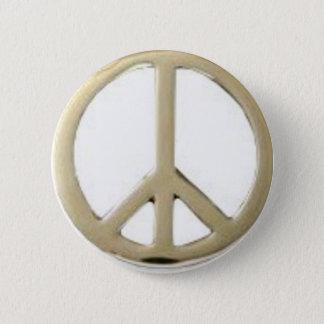 GOLD PEACE DESIGN 2 INCH ROUND BUTTON