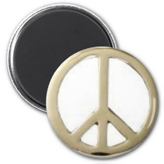 GOLD PEACE DESIGN 2 INCH ROUND MAGNET