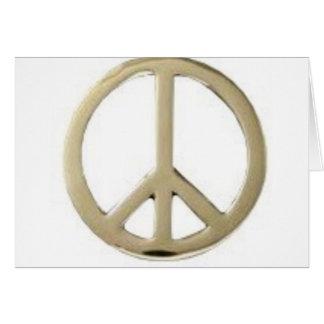 GOLD PEACE DESIGN CARD