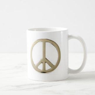 GOLD PEACE DESIGN COFFEE MUG