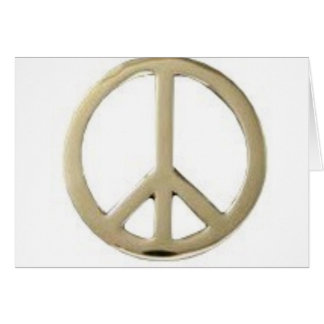 GOLD PEACE DESIGN GREETING CARD