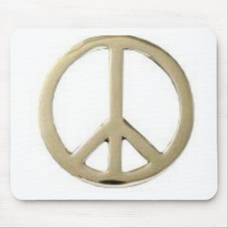 GOLD PEACE DESIGN MOUSE PAD