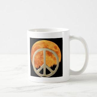 GOLD PEACE MOON COFFEE MUGS