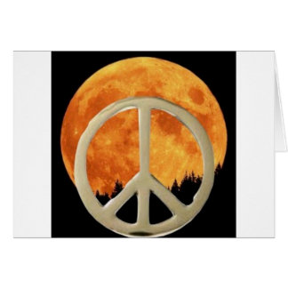 GOLD PEACE MOON GREETING CARD