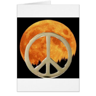 GOLD PEACE MOON GREETING CARDS