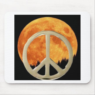 GOLD PEACE MOON MOUSE PAD