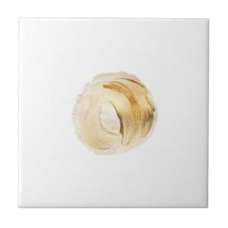 Gold Peach Metallic Gold Paint Swirl Accent Tile