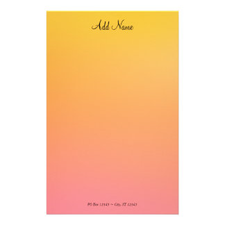 Gold Peach Stationery