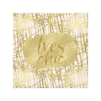 Gold Peach Tres Chic Canvas Print