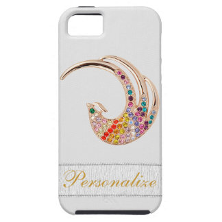 Gold Peacock & Diamond Jewels iPhone 5 iPhone 5 Cases