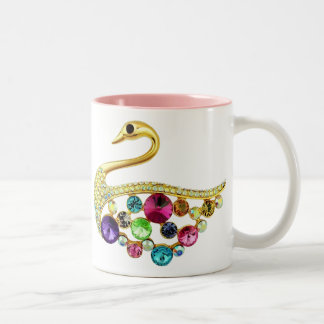 Gold Peacock & Jewels Mug
