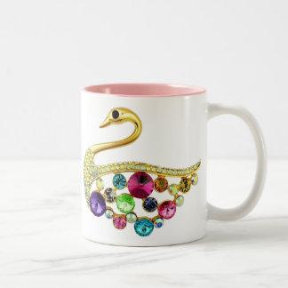 Gold Peacock & Jewels Mug