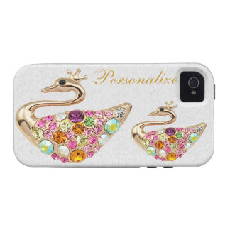 Gold Peacocks with Diamond Jewels iPhone 4/4S iPhone 4 Cases