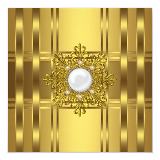 Gold Pearl All Occasion Party Card