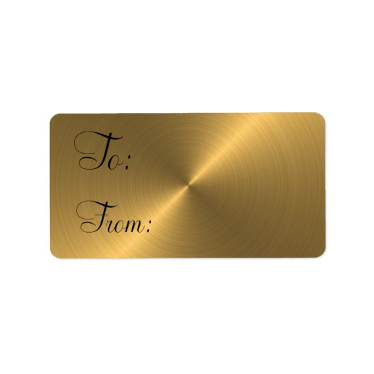 Gold Pearl Gift Tag