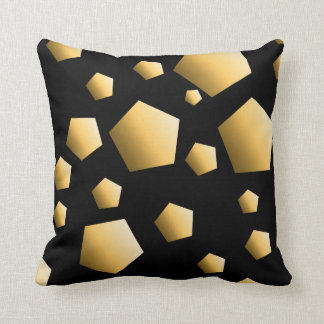 Gold Pebble Pattern Throw Pillow