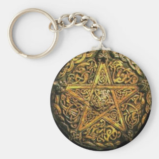 Gold Pentacle Keychain
