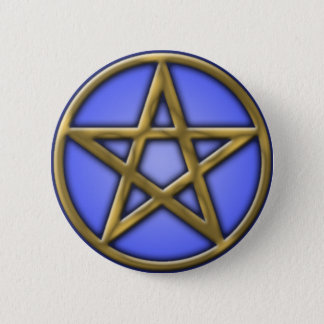 Gold Pentacle on Air 2 Inch Round Button