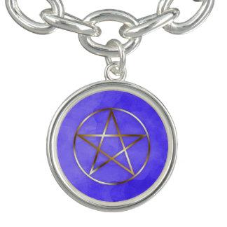 Gold Pentagram Star Occult Bracelet