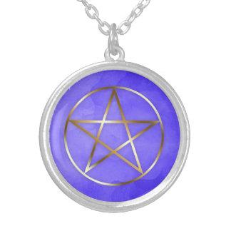 Gold Pentagram Star Occult Necklace