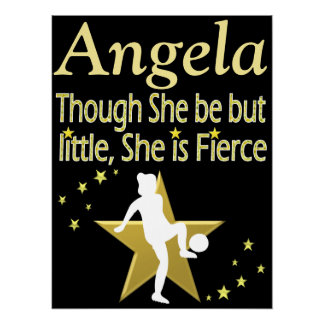 GOLD PERSONALIZED SOCCER GIRL POSTER
