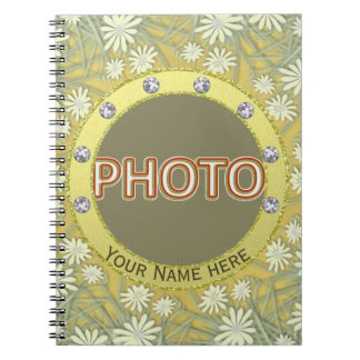 Gold Personalized Spiral Notebook