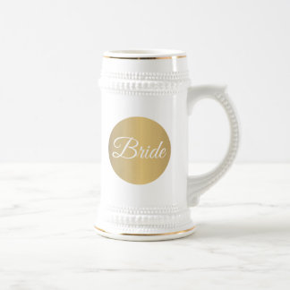 Gold Personalized Wedding Beer Stein