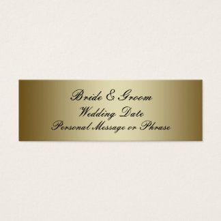 Gold Personalized Wedding Favor Tag Template Mini Business Card