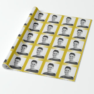 Gold Photo Template Graduation Birthday Gift Wrap