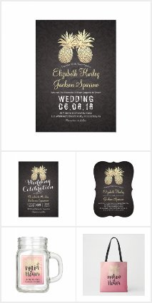 Gold Pineapple Couple Wedding Collections