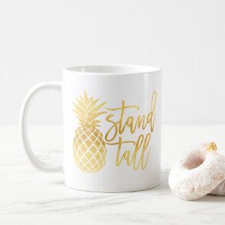 Gold Pineapple Stand Tall Mug