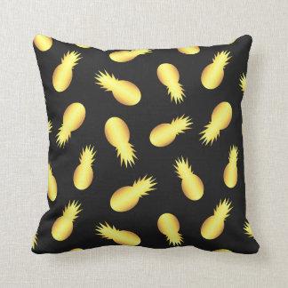 Gold Pineapple Throw Pillow