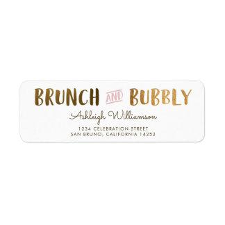 Gold & Pink Brunch & Bubbly Wedding Bridal Shower