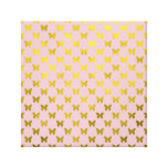Gold Pink Butterfly Metallic Faux Foil Butterflies Stretched Canvas Prints
