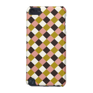 Gold Pink Chocolate Ivory Plaid iPod Touch (5th Generation) Case