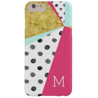 Gold Pink Color Block Dots iPhone 6/6s Plus Case