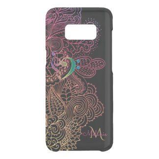 Gold Pink Lace Music Heart Monogram Uncommon Samsung Galaxy S8 Case