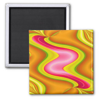 gold pink square magnet