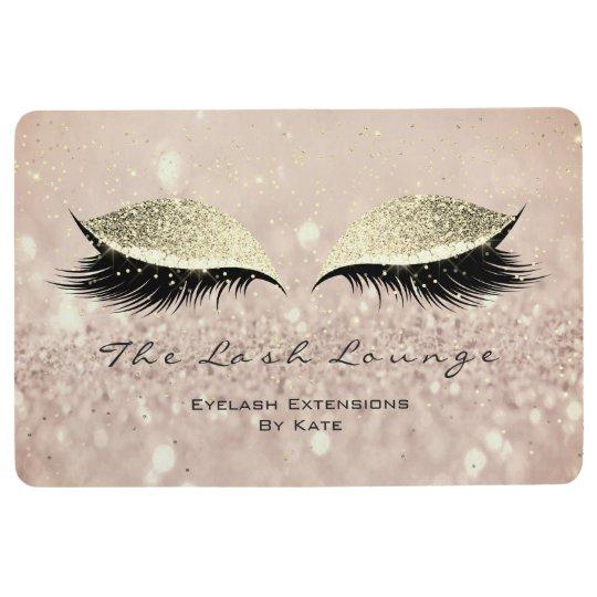 Gold Pink Makeup Artist Glitter Lashes Beauty Eyes Floor Mat